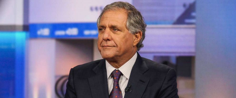 "PHOTO: Leslie ""Les"" Moonves, president and chief executive officer of CBS Corp., listens during a Bloomberg Television interview in New York City, Oct. 14, 2015."
