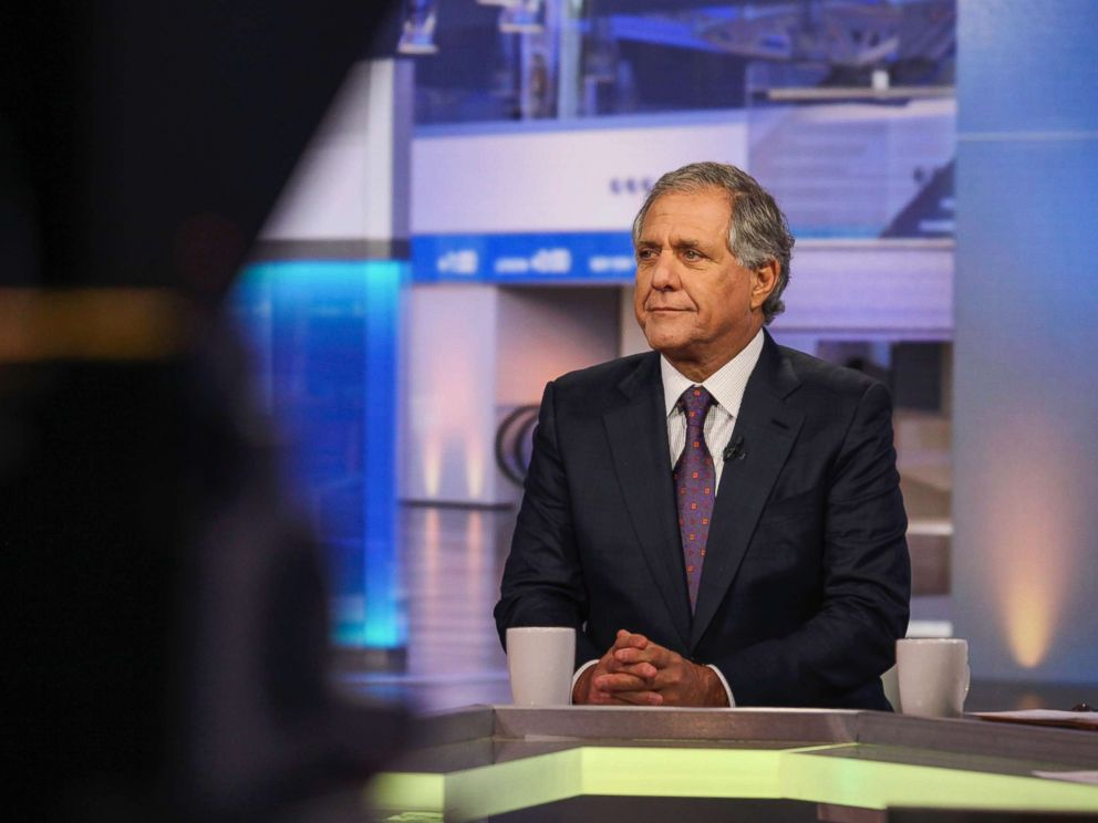 PHOTO: Leslie Les Moonves, president and chief executive officer of CBS Corp., listens during a Bloomberg Television interview in New York City, Oct. 14, 2015.