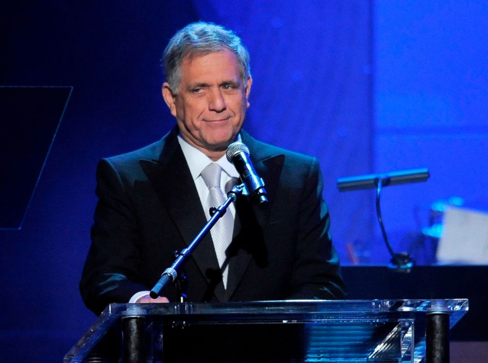PHOTO: CBS President and CEO Les Moonves speaks at the Clive Davis Pre-GRAMMY Gala in Beverly Hills, Calif., Feb. 9, 2013.