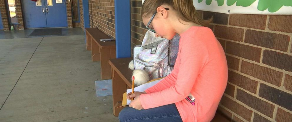 PHOTO: Abigail Daniels, 9, wrote a letter to the Claiborne County sheriff, asking for more protection at school.