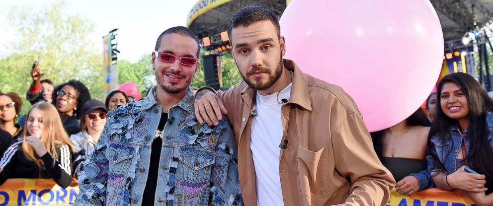 "PHOTO: Liam Payne performed live with J Balvin during the ""Good Morning America"" Summer Concert Series, May 15, 2018."