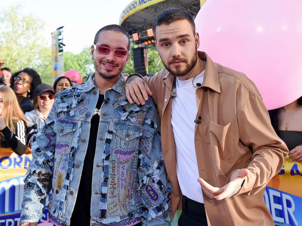 PHOTO: Liam Payne performed live with J Balvin during the Good Morning America Summer Concert Series, May 15, 2018.