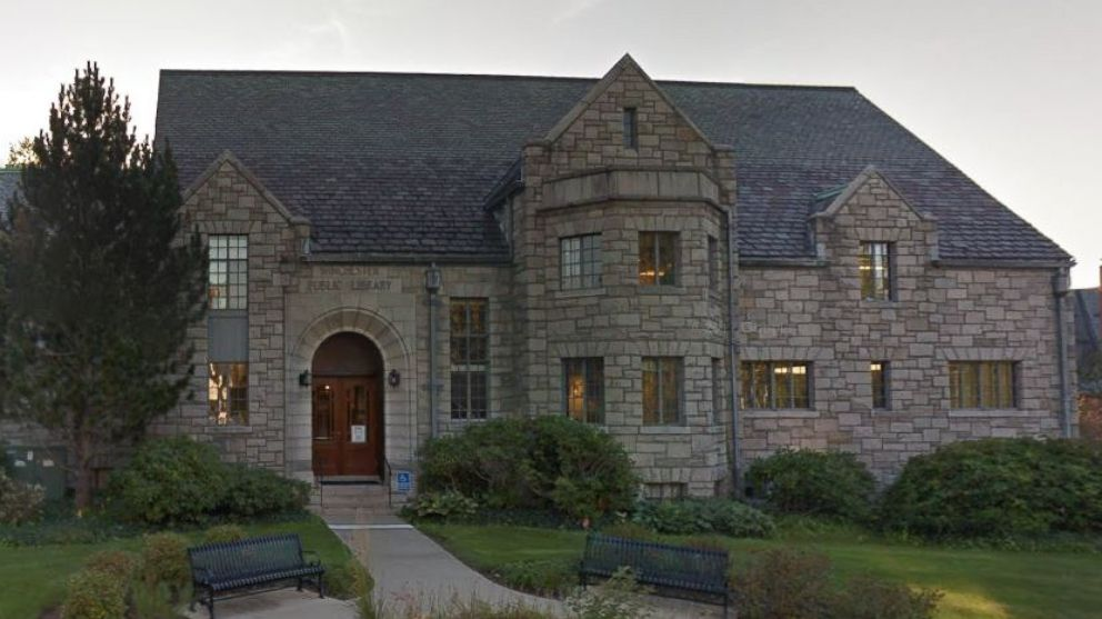 Winchester Public Library Central Library located at 80 Washington Street in  Winchester, Mass.