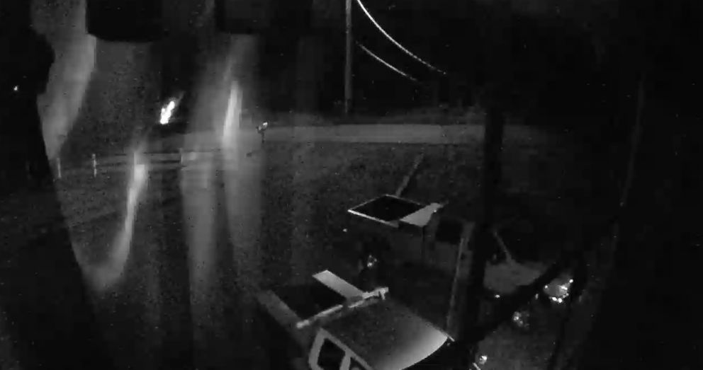 PHOTO: A surveillance video from a residents home in Grays Harbor County, Washington, shows the moment before the flash.
