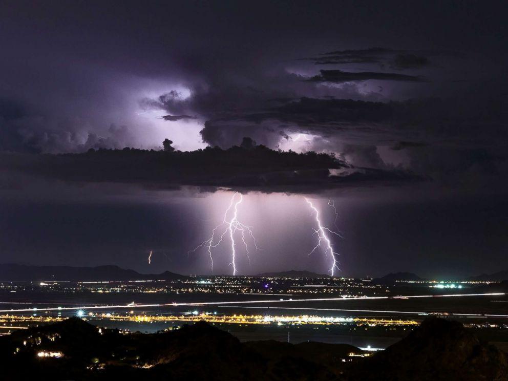 Photo Lightning Strikes Over Phoenix Arizona