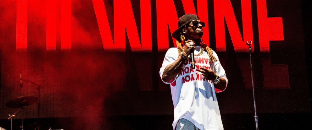 PHOTO: Lil Wayne performs at the Lil WeezyAna Fest at Champions Square on Friday, Aug. 25, 2017, in New Orleans.