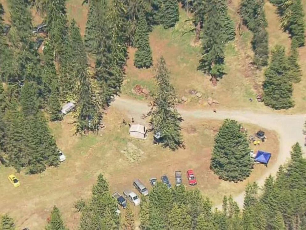 Authorities search for clues into the disappearance of Lindsey Baum near Ellensburg, Wash., on May 12, 2018. The girls remains were found in the region last fall after she went missing in 2010.