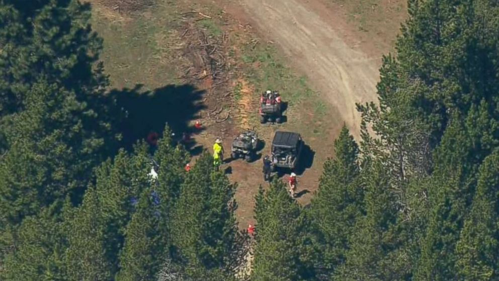 Authorities search for clues into the disappearance of Lindsey Baum near Ellensburg, Wash., on May 12, 2018. The girl's remains were found in the region last fall after she went missing in 2010.