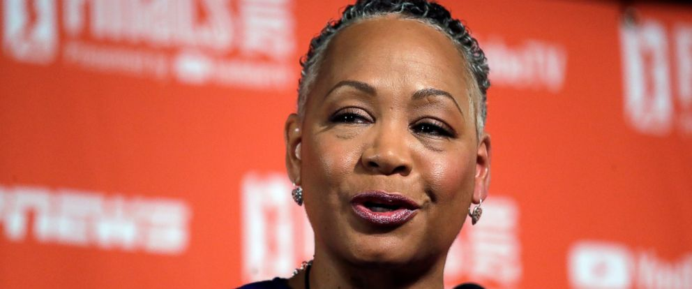 PHOTO: Lisa Borders, former president of the WNBA, who was named the head of Times Up last year, says she has resigned as president and CEO of Times Up.