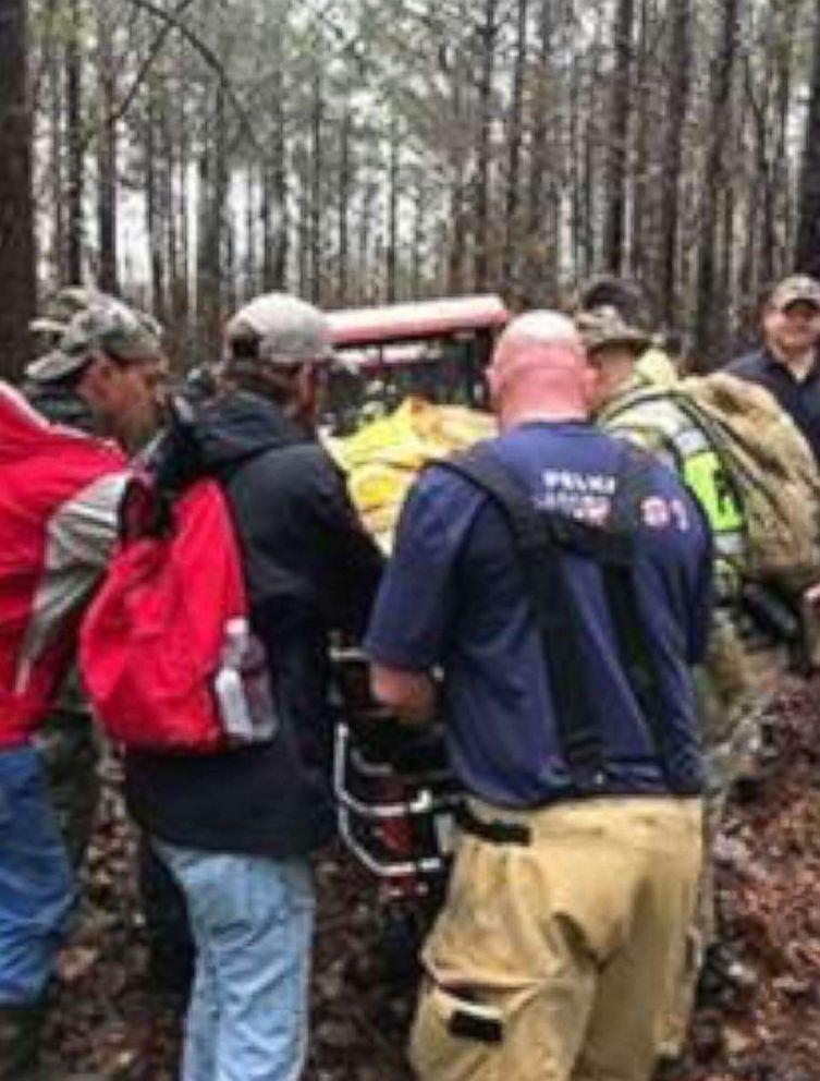 PHOTO: Lisa Holman was rescued on Feb. 11, 2018 after searchers and volunteers went out on a second day of searching for her.
