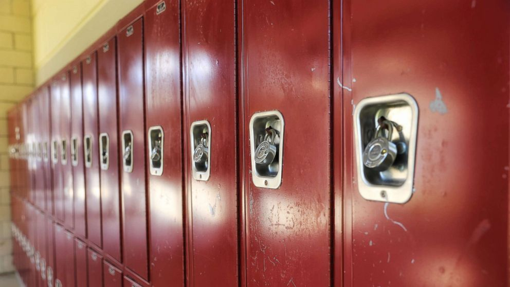 An undated stock photos of lockers.