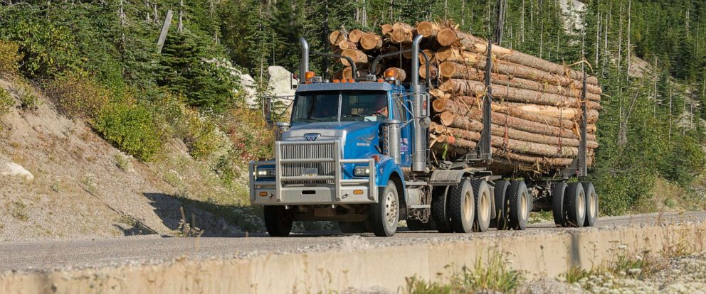 PHOTO: In this undated file photo, a logging truck is shown.