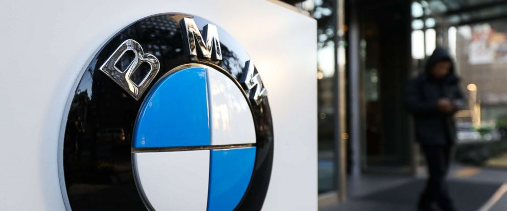PHOTO: The BMW AG logo is displayed outside a building housing the companys offices in Seoul, South Korea, Dec. 24, 2018. BMW is facing a criminal probe in South Korea after investigators concluded the company concealed fire hazards and delayed recalls.
