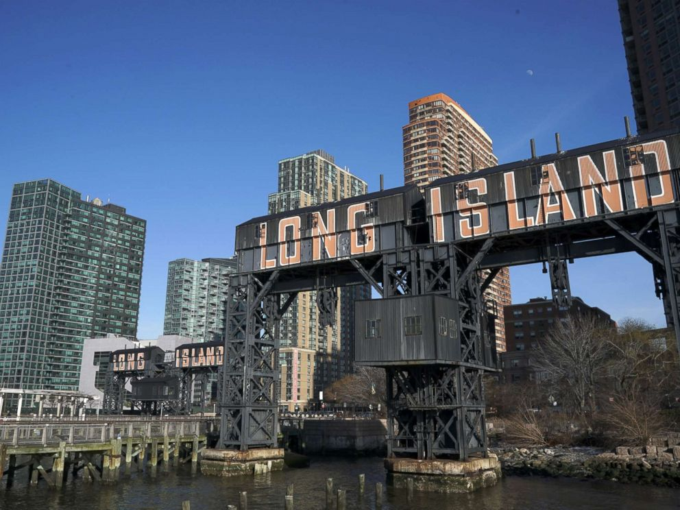 PHOTO: A view of Gantry Plaza State Park along the waterfront in Long Island City, Feb. 14, 2019, in Queens, New York City.