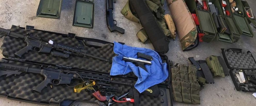 PHOTO: A 37-year-old man was arrested after police found a weapons cache at his California home. The suspect, police said, had earlier threatened coworkers and guests at the hotel where he worked.