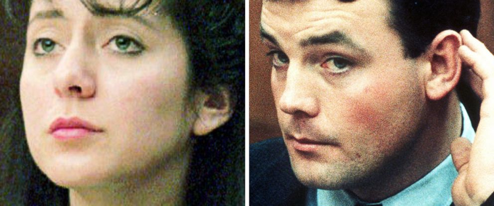 PHOTO: Lorena Bobbitt and John Wayne Bobbitt are pictured during their testimony in her 1994 trial for cutting off his penis in Manassas, Va.