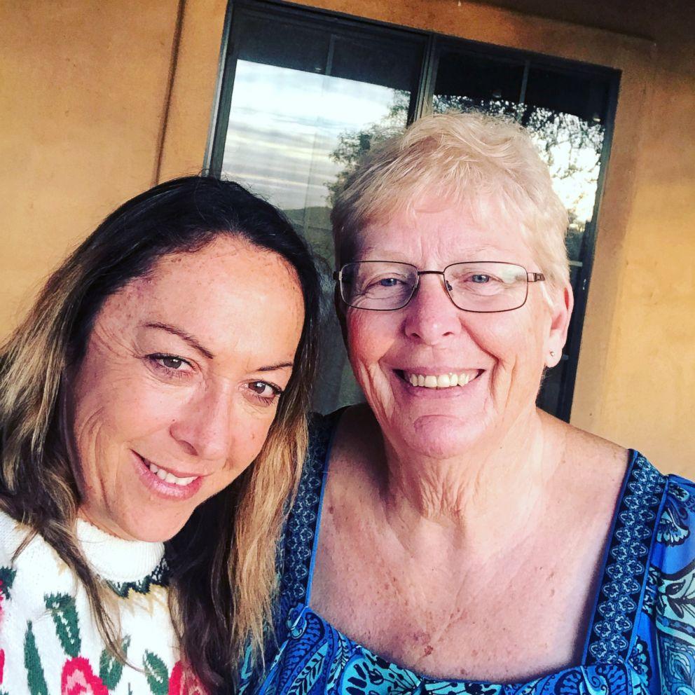 Lori Webster with her stepmother Karen Leslie.