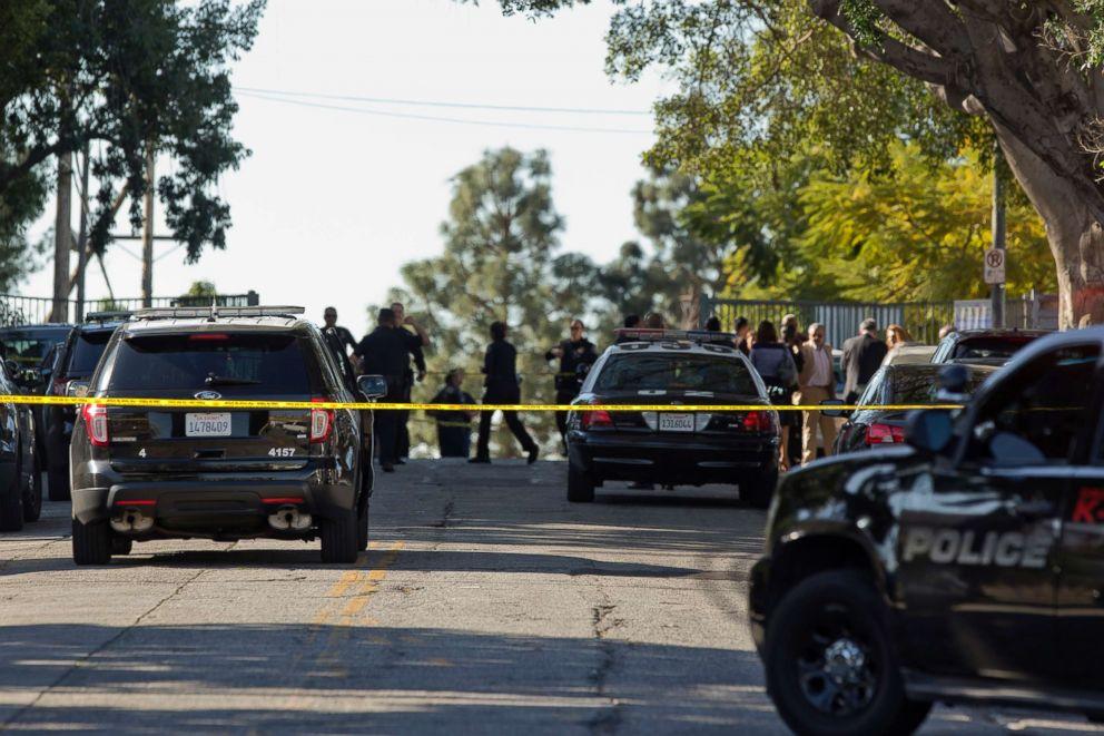 PHOTO: Los Angeles Police cordon off the Belmont High School in Los Angeles, Feb. 1, 2018.