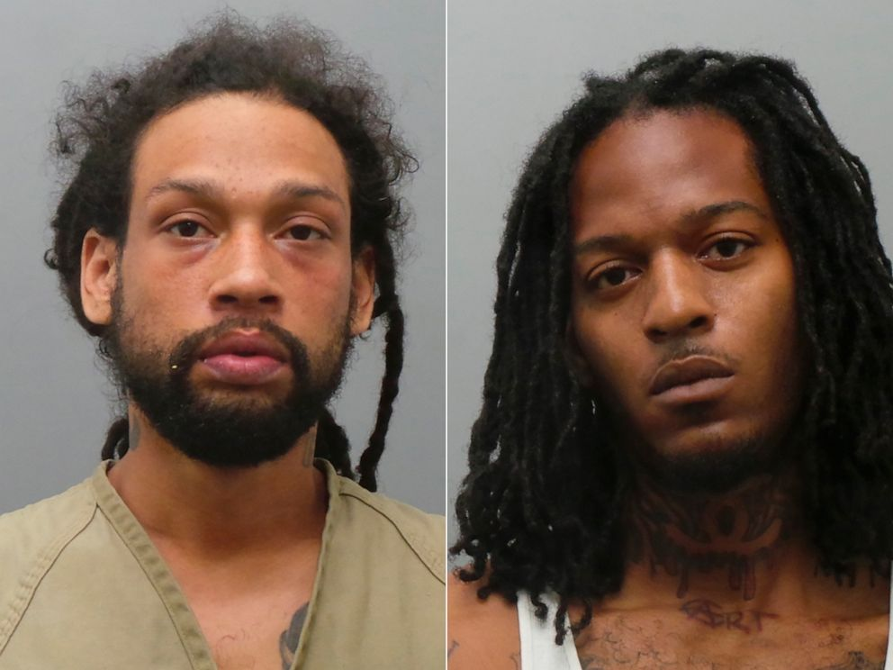 PHOTO: These undated photos released by the St. Louis County Police Department show Anthony Watkins Jr., (L) and Terrance Wesley, who were both charged on July 9, 2019, with fatally shooting five men in St. Louis.