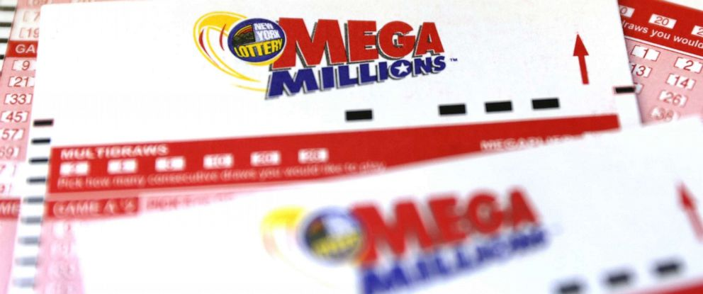 PHOTO: Mega Millions entry tickets are seen at a newsstand after the jackpot for Tuesdays drawing topped $650 million in New York City, Oct. 16, 2018.