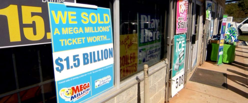 Mega Millions Map, Photo A Signs Stands Outside A Kc Mart In Simpsonville S C, Mega Millions Map