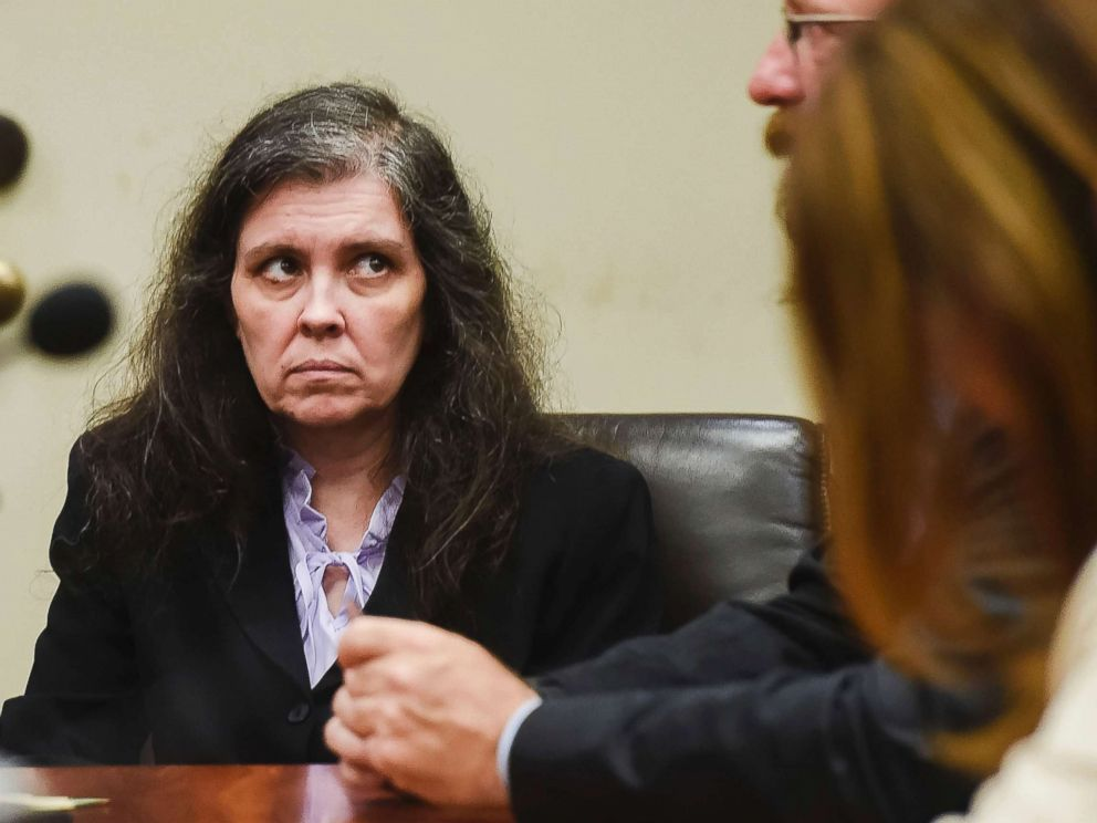 PHOTO: Louise Turpin appears in Riverside Superior Court during an information hearing in Riverside, Calif. Aug. 3, 2018.