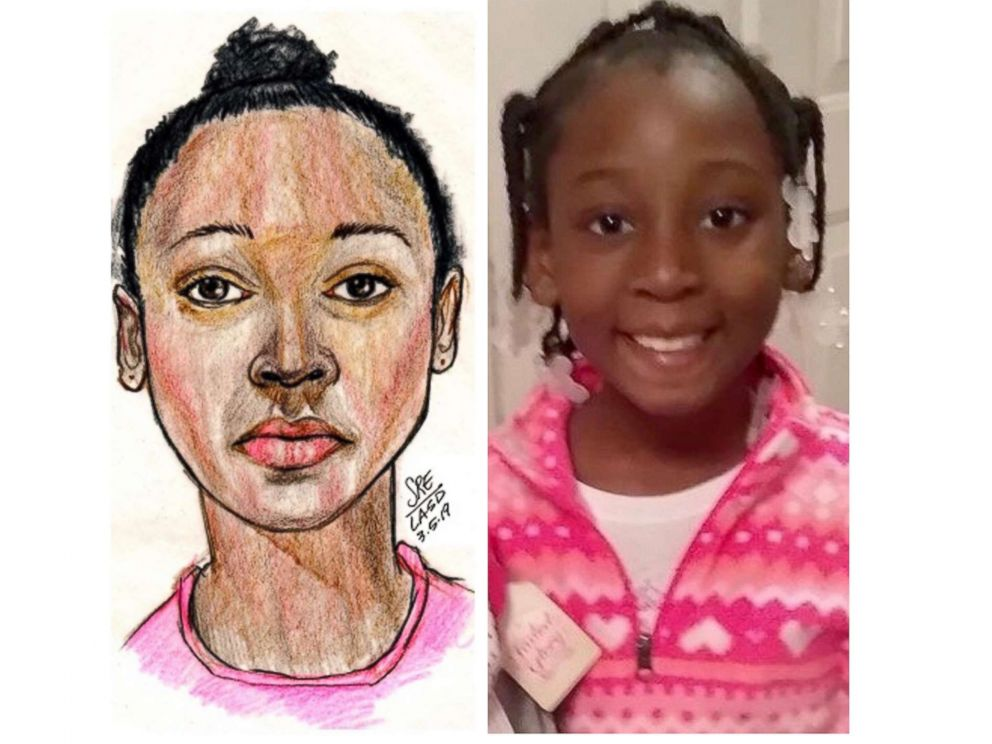 PHOTO: A police sketch and then photo of Trinity Love Jones.