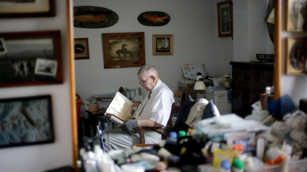 Loyd Leatherman, 90, served as a U.S. Navy mailman during World War II. He was stationed aboard the U.S.S. Oglethorpe in the Pacific Theater.