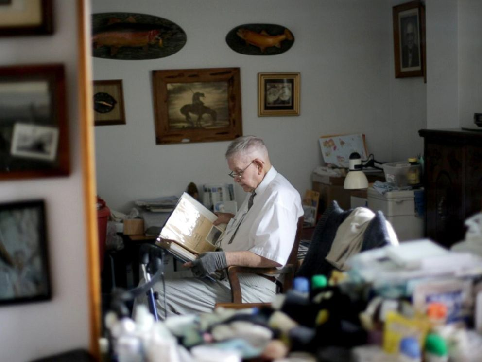 PHOTO: Loyd Leatherman, 90, served as a U.S. Navy mailman during World War II. He was stationed aboard the U.S.S. Oglethorpe in the Pacific Theater.