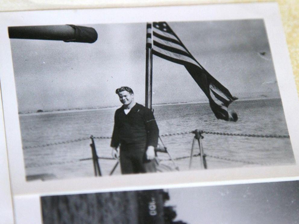 PHOTO: A photo of Loyd Leatherman taken aboard the U.S.S. Oglethorpe during World War II.