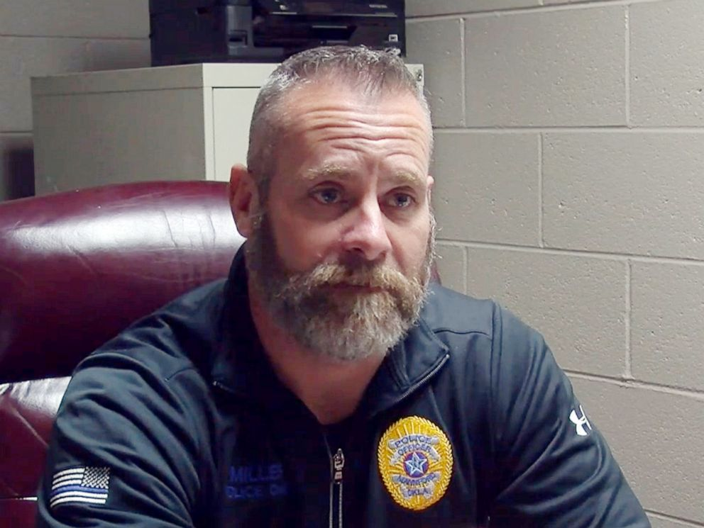 PHOTO: Mannford, Okla. Police Chief Lucky Miller is pictured in undated video footage from KTUL.