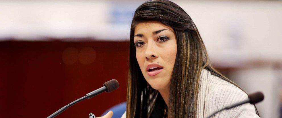 PHOTO: Nevada Assemblywoman Lucy Flores presents a measure in committee at the Legislative Building in Carson City, Nev., May 10, 2013.