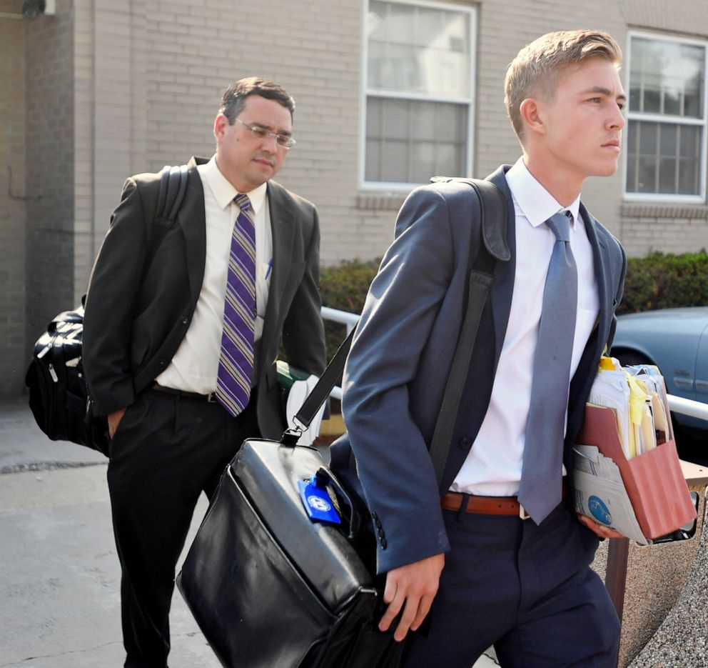 Beta Theta Pi member  Luke Visser leaves the Centre County courthouse in this July 11, 2017 file photo in Bellefonte, Pa.