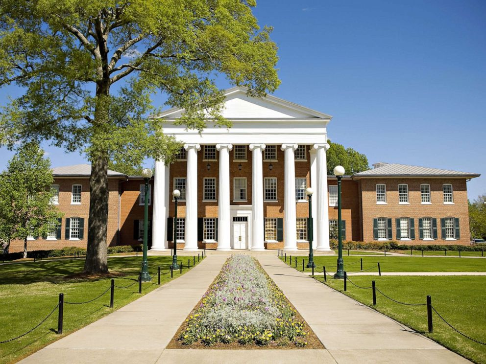 PHOTO: The Lyceum, oldest building on the campus of the University of Mississippi on April 12, 2008, in Oxford, Miss.