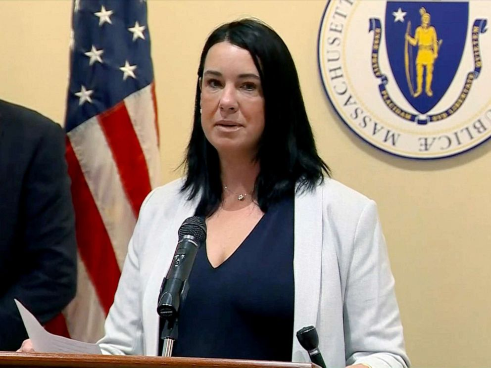 PHOTO: Lynn Roy speaks at a press conference in Massachusetts, July 24, 2019.