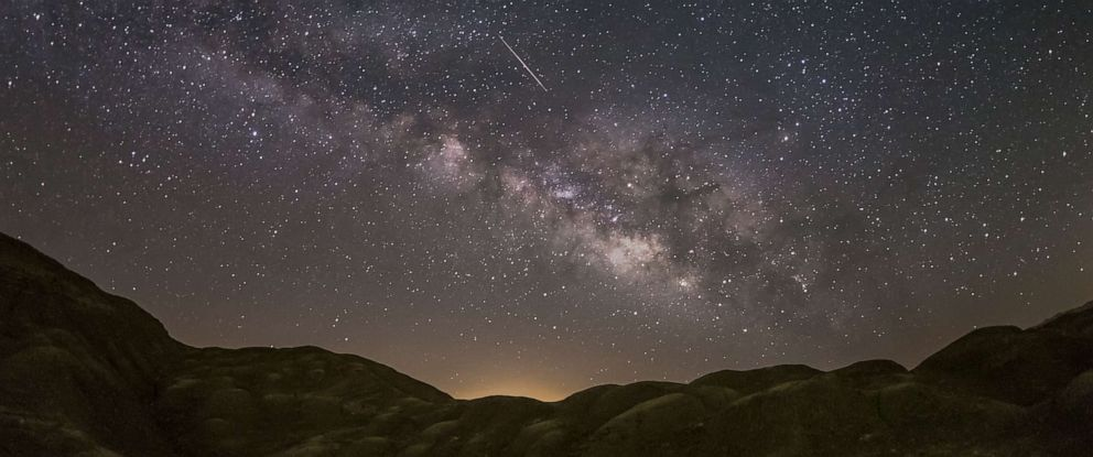PHOTO: A Lyrid Meteor is pictured in the Anza-Borrego Desert in California.