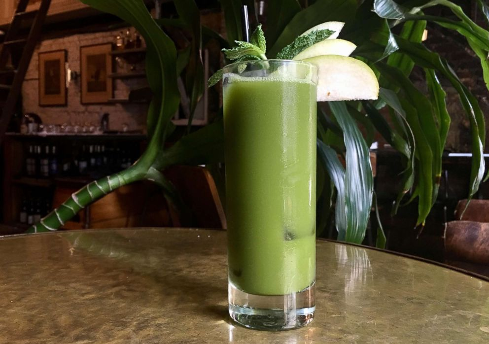 PHOTO: Bar Director Zach Cramer from New York Citys Tinys and The Bar Upstairs shared this recipe for a matcha tea flavored mocktail with GMA.