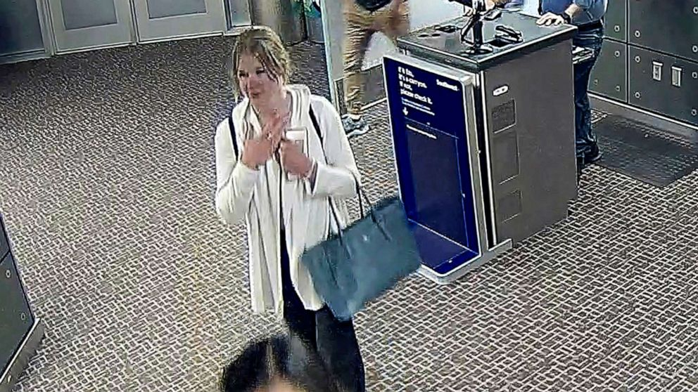 PHOTO: In this image made from a June 2019, Salt Lake City International Airport video provided by the Salt Lake City Police Department shows Mackenzie Lueck.