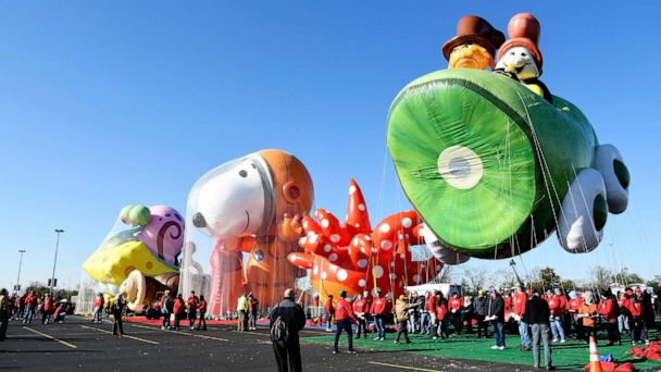 At Macy's Thanksgiving Day Parade, all but 1 balloon braved the wind, flew successfully