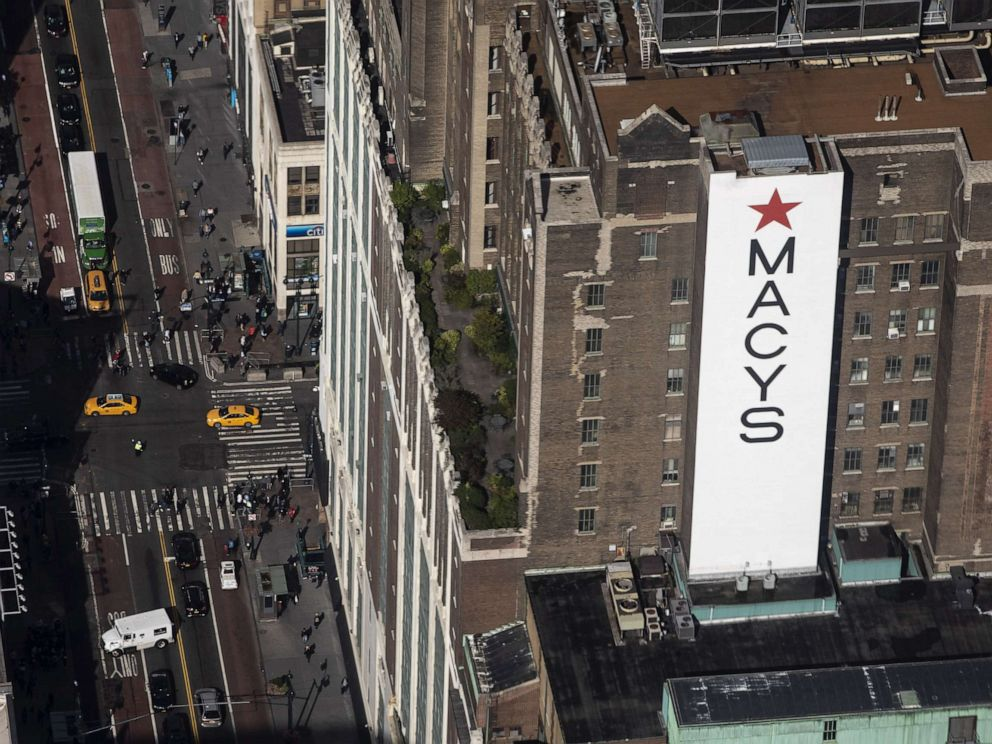 PHOTO: NEW YORK, NY - OCTOBER 10: Macys flagship store in Herald Square is seen from inside the newly renovated 102nd floor observatory of the Empire State Building on October 10, 2019 in New York City. (Photo by Drew Angerer/Getty Images)
