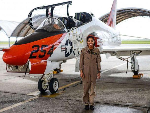 US Navy gets its 1st Black female fighter pilot