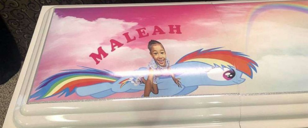 "PHOTO: Casket of 4-year-old Maleah Davis decorated with ""My Little Pony."""