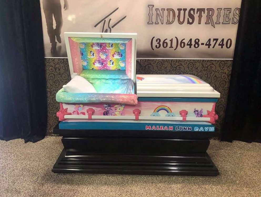 PHOTO: Casket of 4-year-old Maleah Davis decorated with My Little Pony.