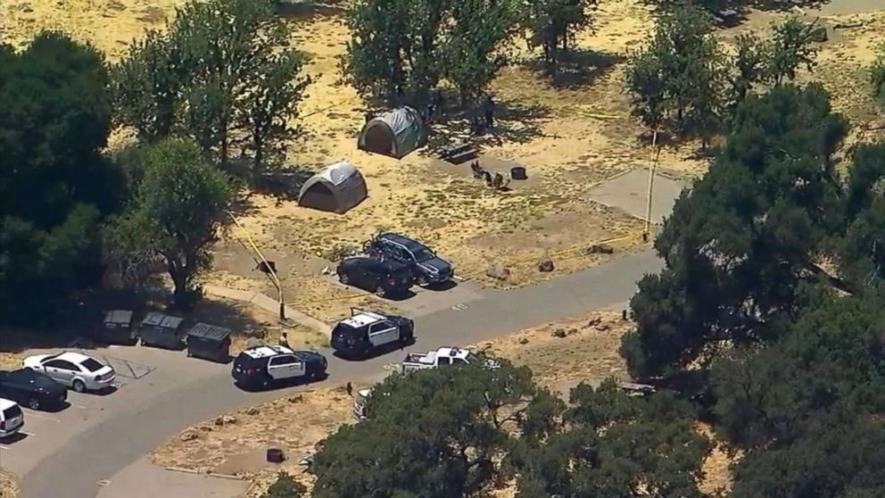 Los Angeles County sheriff's deputies are investigating the fatal shooting of a man who was camping with his family in Calabasas Friday, June 22, 2018.