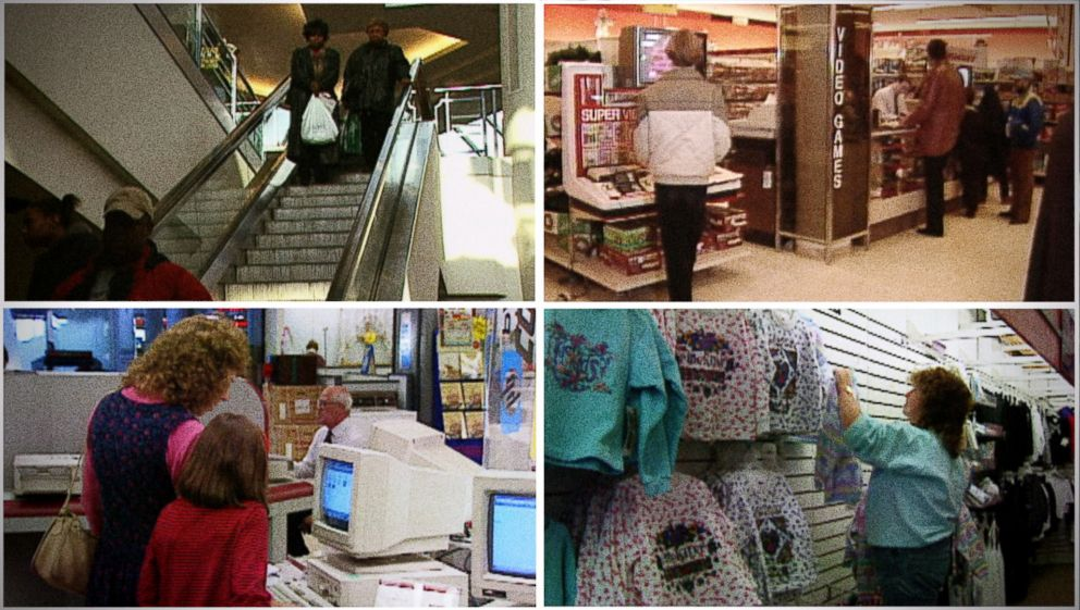 PHOTO: Scenes from a mall through the years.