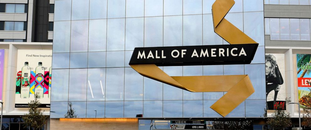PHOTO: In this October 14, 2018, file photo, the north entrance to Mall Of America in Bloomington, Minn. is shown.