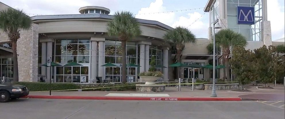 PHOTO: Shoppers at Memorial City Mall in Houston were sent into a panic, Aug. 11, 2019, after police say someone in a mask jumped on a table in the food court and threatened to kill himself.