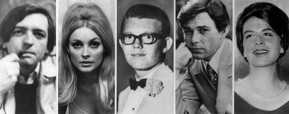 PHOTO: From left, Voityck Frykowski, Sharon Tate, Stephen Parent, Jay Sebring, and Abigail Folger, the five victims slain the night of Aug. 9, 1969, at the Benedict Canyon Estate.