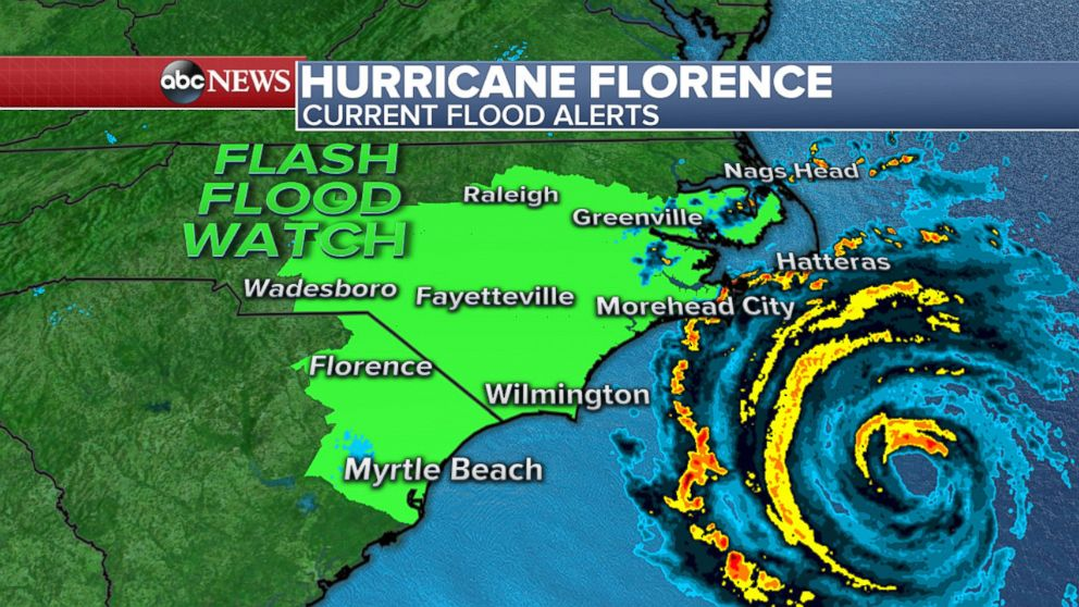Hurricane Florence begins to batter U.S.  east coast