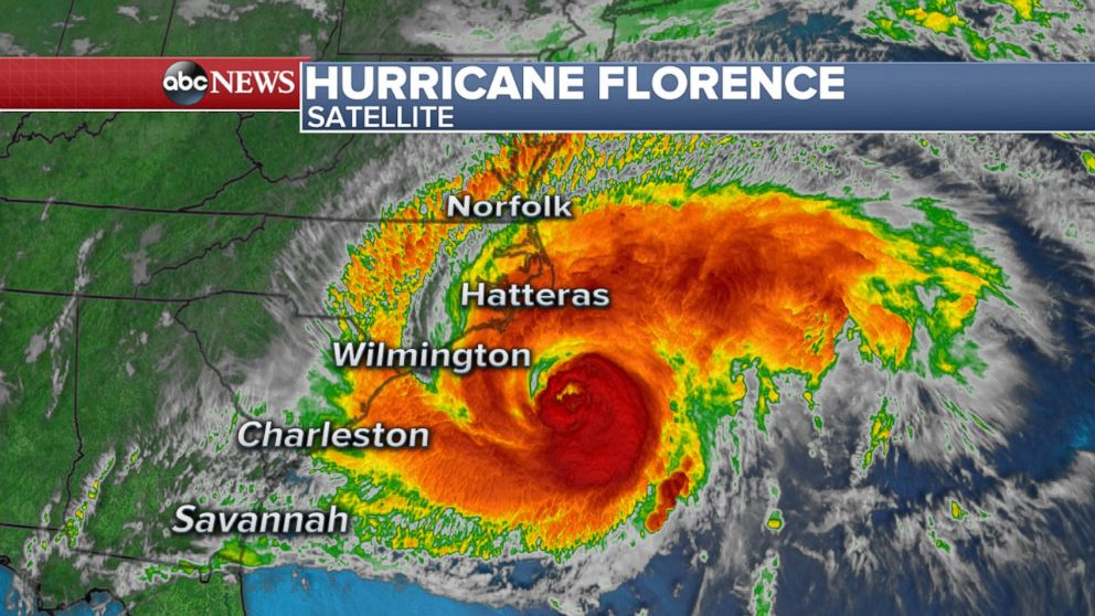 Hurricane Florence S Tropical Storm Force Winds Begin